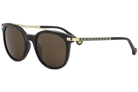 ba2eb94fba Sunglasses CH by Carolina Herrera SHE 690 Shiny Black700 at Amazon ...