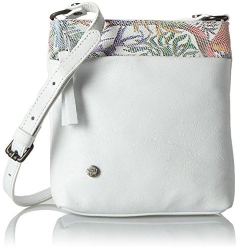 Think! Damen Bag Umhängetasche, 5x20x18 cm Weiß (Bianco/Kombi 97)