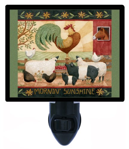Country and Folk Style Night Light, Mornin' Sunshine, Rooster ()