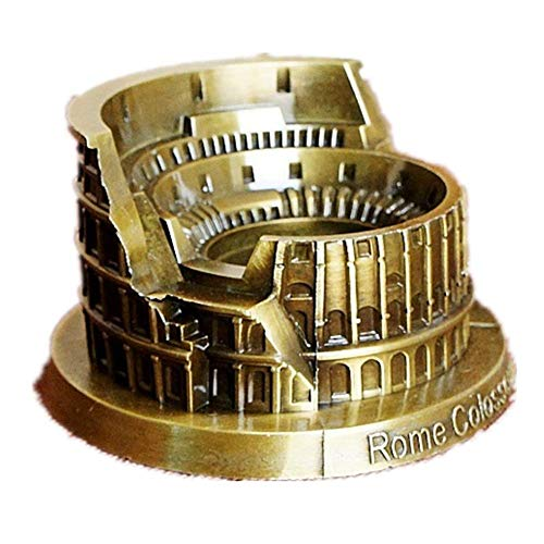 Jollin Travel Gifts Colosseum Rome Ashtray Metal Models Statue Handmade Arts Crafts Collectible Souvenirs for Tabletop Home Decoration Kids Adult Gift