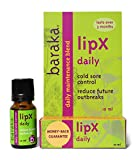 Baraka LipX Daily 10 ml- Daily Maintenance Blend. Fever Blister Cold Sore Control Formula. Reduce Future Outbreaks! All Natural, Organic Essential Oils (1 pk)