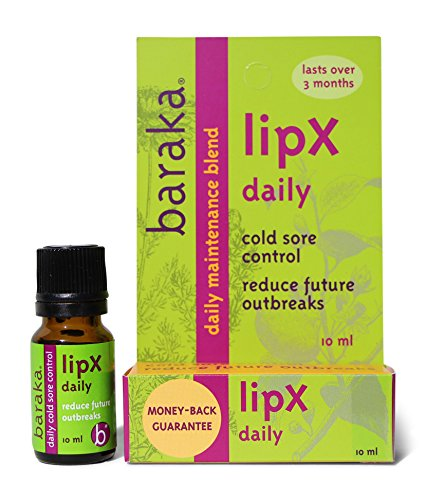 Baraka LipX Daily 10 ml- Daily Maintenance Blend. Fever Blister Cold Sore Control Formula. Reduce Future Outbreaks! All Natural, Organic Essential Oils (1 pk) by Baraka