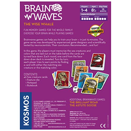 Brainwaves: The Wise Whale - A Kosmos Game from Thames & Kosmos | Fun, Scientist Approved, Family-Friendly Games to Sharpen Your Mind & Train Your Brain, for Ages 8+