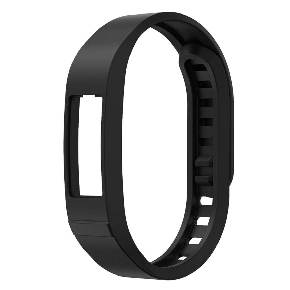 VESNIBA Replacement TPU Wrist Band For Garmin vivofit 2 Smart Wristband Watch (Black)