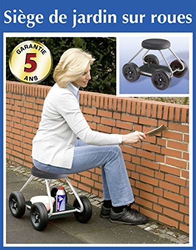 Wenko 5857030500Secura Sitz Rollstuhl für die Haus und Garten Metall silber Maße 52x 40x 41cm