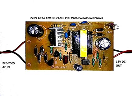 220V AC to 12V DC 2Amp Circuit Board SMPS Power Supply AC DC Stepdown Buck  Converter Module