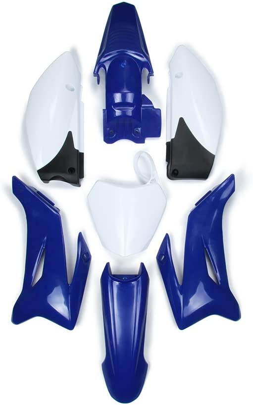 JFGRACING Kit completo de plástico para carenado, guardabarros de gas, placa de matrícula para Yamaha TTR110 y chino 125 CC Pit Bike