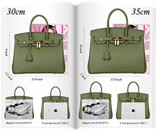 427842d60eae08 Padlock Bags ! Cherish Kiss Women's Genuine Leather Tote- Ma-Zone