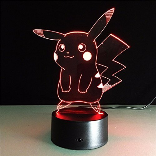 AIBULB Pikachu Fashion Pokemon Lamp 3D Night Light Halloween Kids Toys Holiday