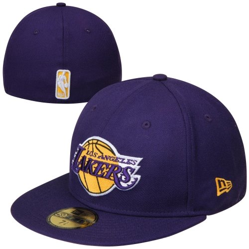 NBA New Era Los Angeles Lakers 59FIFTY Fitted Hat - Purple (7 5/8)