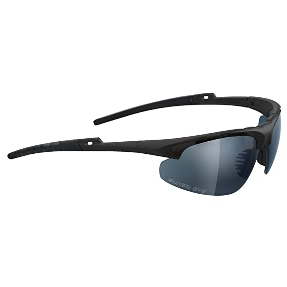 5dbb340f175 Swiss Eye Black Apache Ballistic Sunglasses - Clear