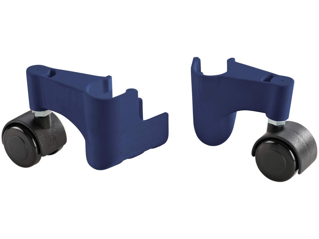 LeifHeit 81715 Pegasus Mobile Roulettes 360/° pour les s/échoirs /à linge M/étal Bleu//Noir 18 x 13 x 7,5 cm