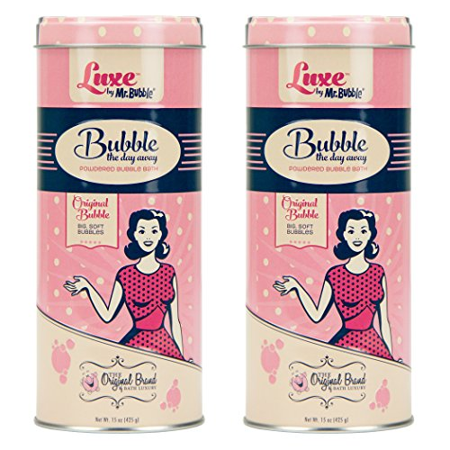 (Luxe by Mr. Bubble, Powdered Bubble Bath, Original Bubble Scent, 15 oz, Pack of 2)