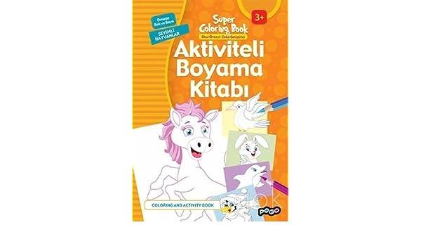 Aktiviteli Boyama Kitabi Sevimli Hayvanlar 9786052355336