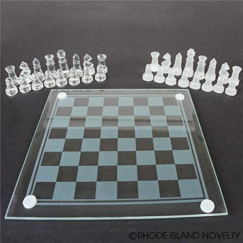 Rhode Island Novelty 7.5 Glass Chess Set by Rhode Island Novelty