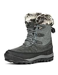 NORTIV 8 Women's A0052 Insulated Waterproof Construction Hiking Winter Snow Boots