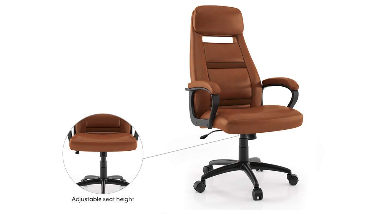 Urban Ladder Angela Study Chair (Colour : Tan Leatherette): Amazon