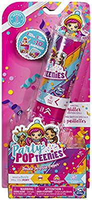 Party Popteenies - Double Surprise Popper, with Confetti, Collectible Mini Doll and Accessories, for Ages 4 an