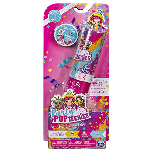 (Party Popteenies - Double Surprise Popper, with Confetti, Collectible Mini Doll and Accessories, for Ages 4 and Up (Styles May Vary))
