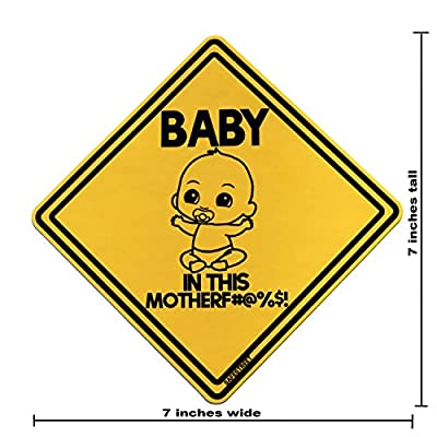 Baby On Board Sticker | Funny! Highly Visible Safety Sticker | Baby On Board Sign (2 Pack) | Funny Stickers for Cars | Window Sticker | Bumper Sticker