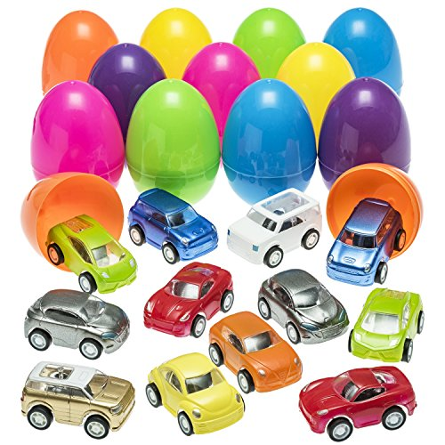 Cars Easter Eggs (Prextex Easter Eggs Filled with Mini Pull Back)