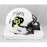 $105 » Phillip Lindsay Signed Colorado Buffaloes Flat White Speed Mini Helmet- JSA W Auth Black