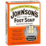 Johnson's Foot Soap Powder Packets - 4 Packets, Pack of 5