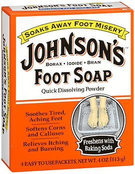 JOHNSON'S Foot Soap Powder Packets 4 Each (Pack of 5)