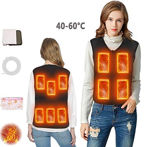 FERNIDA Heated Vest Slim Fit Heated Down Jacket Electric Warm Top Heated Waistcoat Woman/Men L/XL