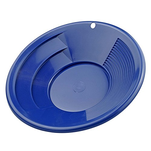 ASR Outdoor 10 Inch Blue Gold Prospecting Gold Mining Pan Shallow Deep Riffles ()