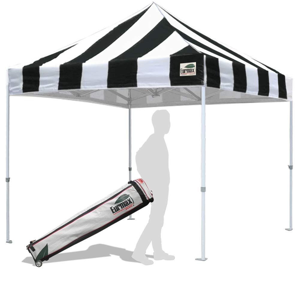 Eurmax 10'x10' Ez Pop Up Canopy Tent Commercial Instant Gazebo Outdoor Tent with Roller Carry Bag