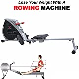 MAXSTRENGTH  Magnetic Folding Rowing Machine Home Gym Rower Fitness Cardio