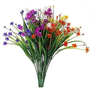 JAKY Global Babys Breath Gypsophila Artificial Flowers 4 Bundle Fake Daffodils Greenery Shrubs Plants Decor Wedding Party DIY Home Garden 1
