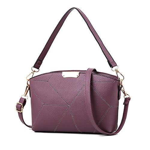 GSHGA Nuevos Bolsos De Patrón De Piedra Bolso De Hombro Messenger Bag Monedero Purple