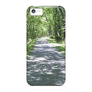 Ultra Slim Fit Hard SashaankLobo Cases Covers Specially Made For Iphone 5c- Road Leading To The Paw Paw Tunnel In Wv