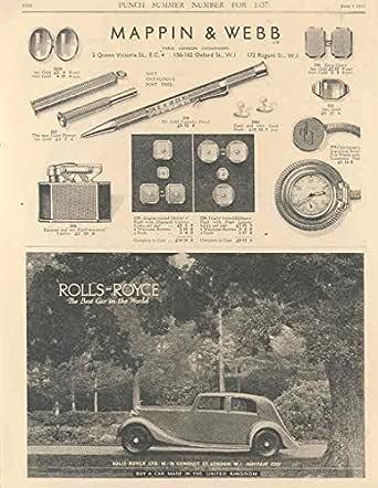 1937 Rolls Royce Phantom III Ad Sanderson Wallpaper