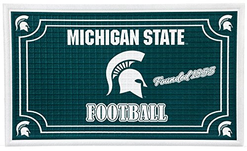 Team Sports America 41EM971 Embossed Door Mat-Michigan State, (Michigan State Rug)