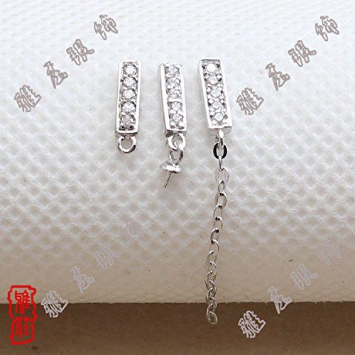 Chuang Ya silver earrings genuine 925 sterling silver accessories Gold side bar ear hook K8897-2 1 Dui