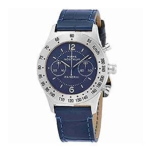 Panerai Mare Nostrum Acciaio Chronograph Blue Dial Mens Watch PAM00716