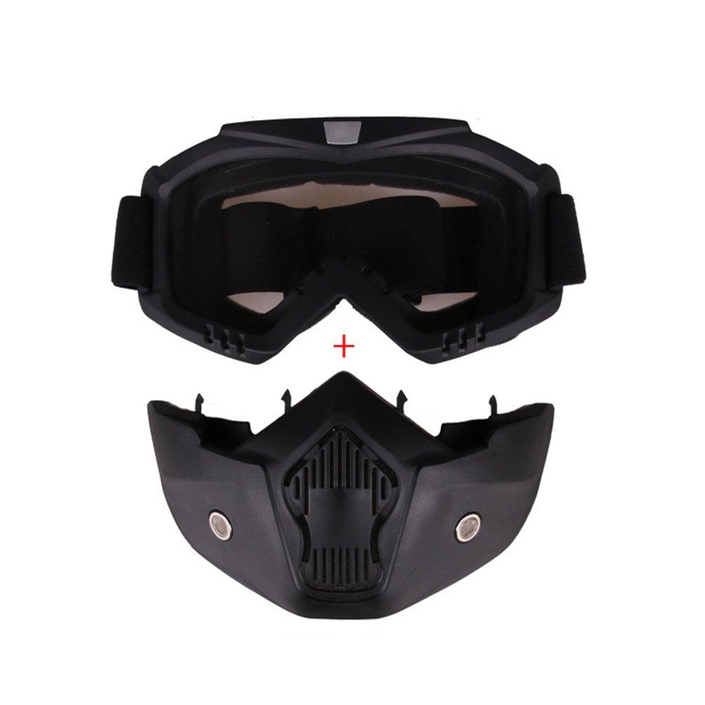Yuanu Motociclo Cross Country Maschera Occhialoni Unisex Anti-Vento Anti-Neve Casco Occhiali Confortevole Traspirante Tattici Goggles Con Maschera Rimovibile