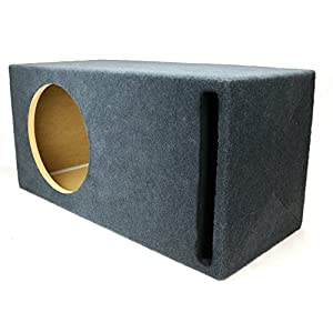 "1.75 ft^3 Ported MDF Sub Woofer Enclosure for Single JL Audio 12"" W3v3 (12W3v3) Car Subwoofer - 3/4"" Premium MDF Construction - Made in U.S.A."