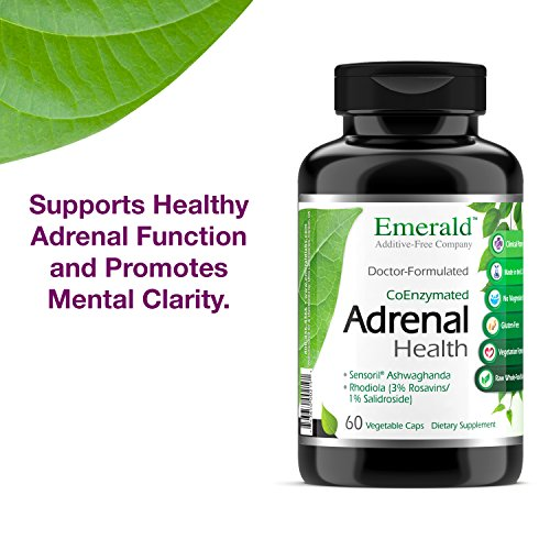 Adrenal Health - with Sensoril Ashwagandha for Improved Energy Levels, Sleep Support, Stress Relief, Promotes Mental Clarity - Emerald Laboratories - 60 Vegetable Capsules by Emerald Laboratories (Image #7)
