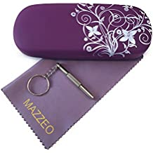 Hard Shell Glasses Case Kit With a Cleaning Cloth and Repair Tool For Men or Women