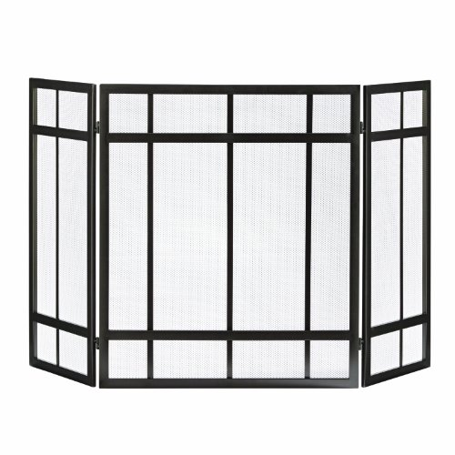 Pleasant Hearth Mission Style 3-Panel Fireplace Screen