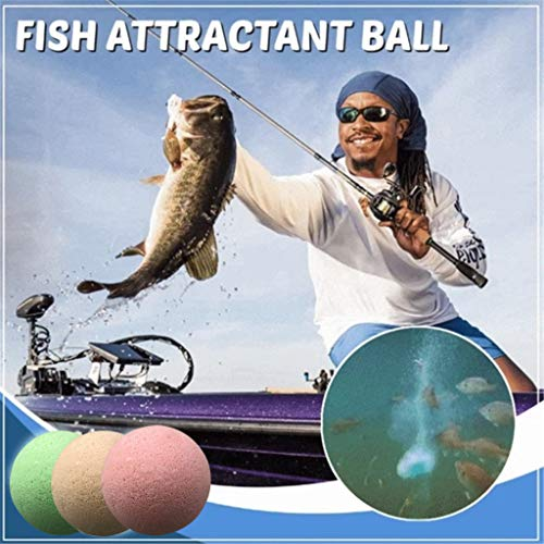Outdoor Fish Attractant Bait,Fishing Attracting Liquid Spray Ball Bait, Fish Lure Bubble Bomb Boilie,Ball Oxygenated…