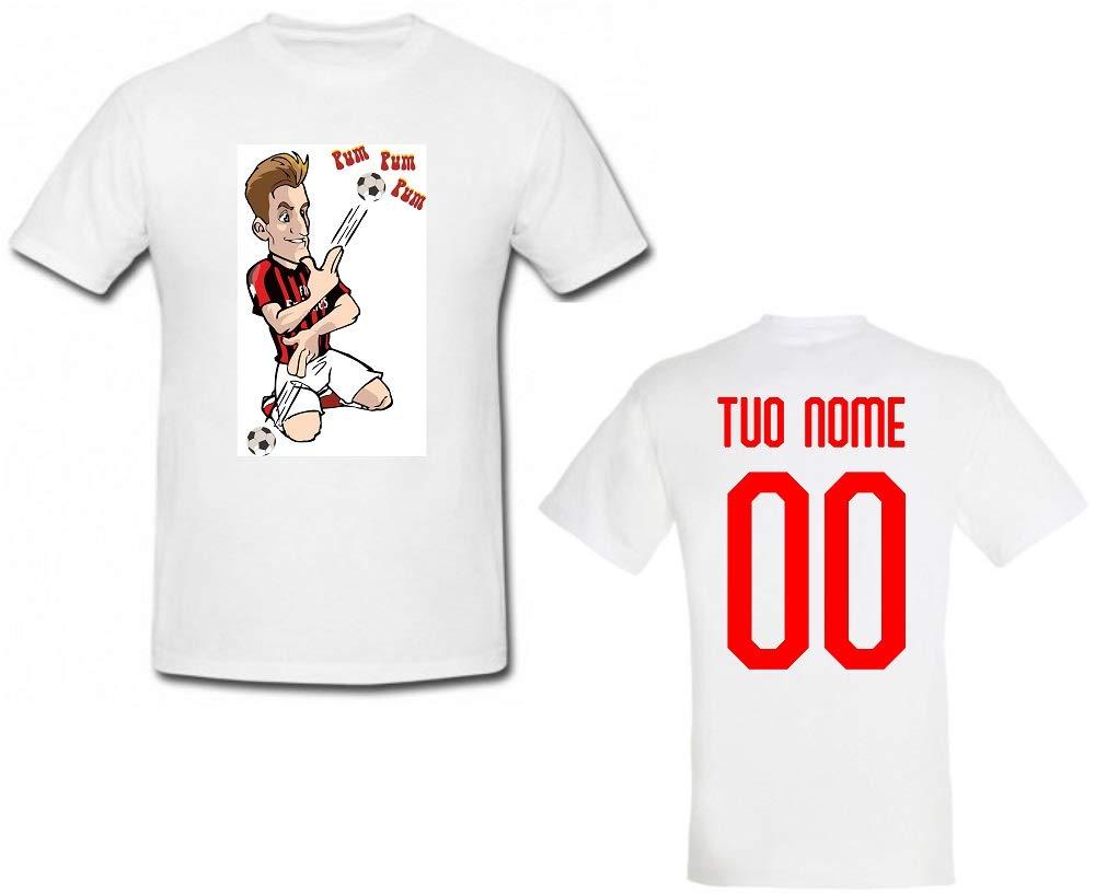 Milan Personalizzata Personalizzabile MAESTRI DEL CALCIO T-Shirt ...