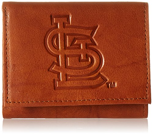 Louis Wallet Cardinals - MLB St. Louis Cardinals Embossed Genuine Cowhide Leather Trifold Wallet
