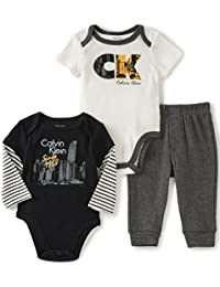 Baby Boys' Two Solid Bodysuit with Pants Set