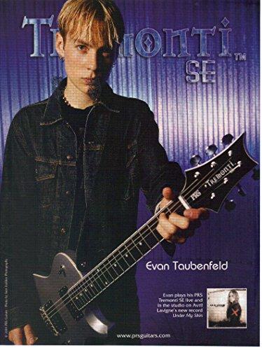 Magazine Print ad: 2004 Evan Taubenfeld, Tremonti SE-PRS Guitars-Paul Reed Smith Guitars