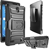 ZTE ZMAX 2 Case, ATUS® Heavy Duty Holster Hybrid Kick Stand Case with Locking Belt Swivel Clip + Premium Screen Protector And Ultra-sensitive Stylus Pen (BALCK/BLACK)
